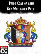 Pride- Gay Coat of arms Wallpaper pack