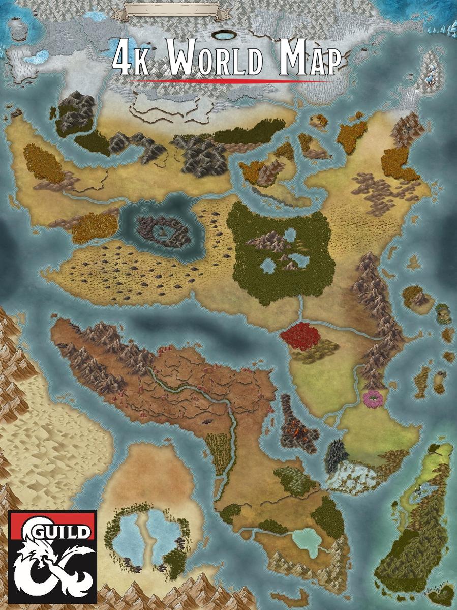4k World Map