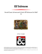 Elf Subraces