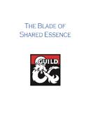 The Blade of Shared Essence - A 5e One Shot
