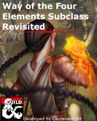 Elemental Traditions Monk Subclasses
