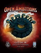 CCC-CIC-16 Open Ambitions