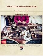 Magic Item Shop Roll Tables