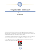 The Magus, Morgenstern's Subclasses #2
