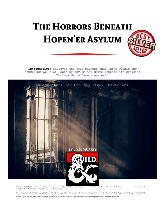 Cover of The Horrors Beneath Hopen'er Asylum