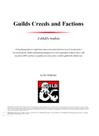 Guilds Creeds and Factions
