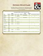 Estudio MultiClase para D&D 5e Español