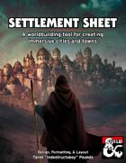 Settlement Sheet