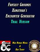 Fantasy Grounds Xanathar's Encounter Generator - Trial