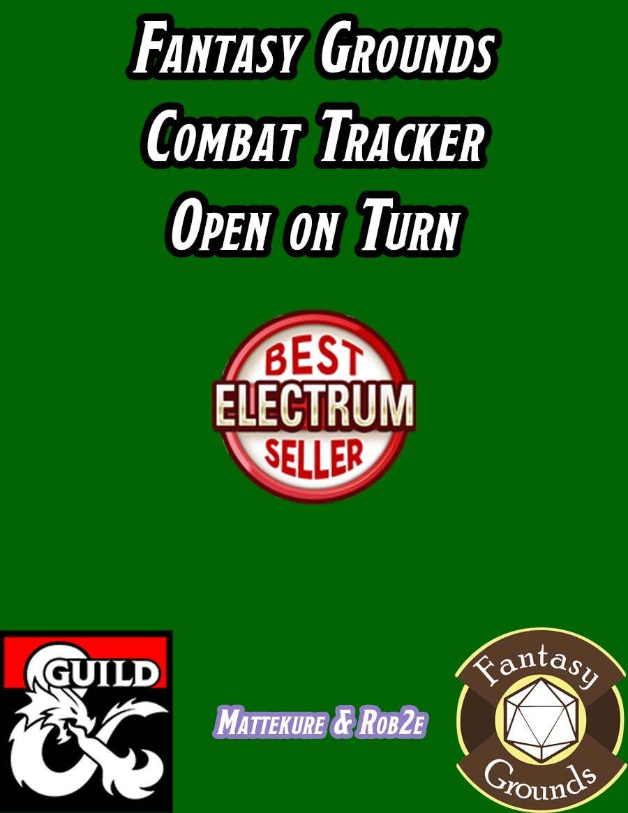 Fantasy Grounds Combat Tracker Open On Turn Dungeon Masters Guild Drivethrurpg Com