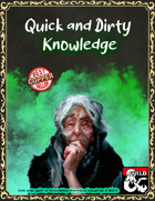 Quick and Dirty Character Knowledge