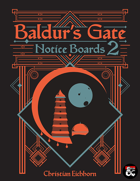 Baldur's Gate Notice Boards 2