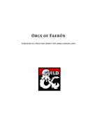 Orcs of Faerûn