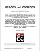 Allies and Enemies Vol. 1