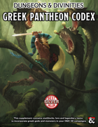 """Greek Pantheon Codex for D&D5e"""