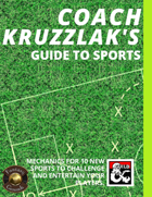 Coach Kruzzlak's Guide to Sports (Fantasy Grounds)