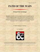 Primal Path: Path of the Wain
