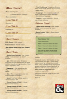 Homebrew Race Template