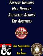 Fantasy Grounds Mad Nomad's Automatic Actions Tab Additions