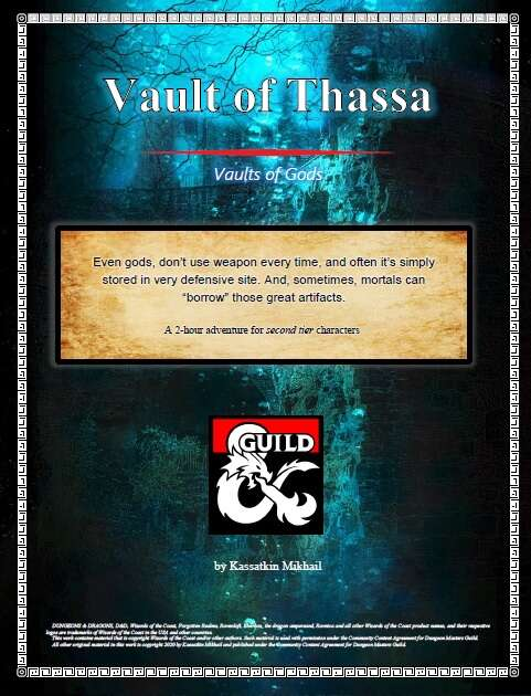 Vault Of Thassa Dungeon Masters Guild Dungeon Masters Guild