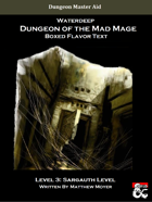 DotMM: Boxed Flavor Text and Combat Tracker - Level 3 (Waterdeep: Dungeon of the Mad Mage)
