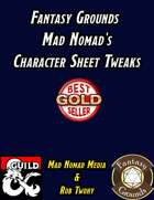 Fantasy Grounds Mad Nomad's Character Sheet Tweaks