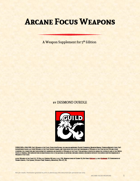 Arcane Focus Weapons