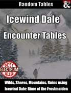 Icewind Dale Encounter Tables - Random Encounters
