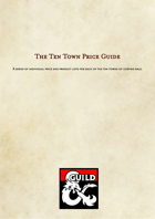 Icewind Dale - Ten Towns Price Lists