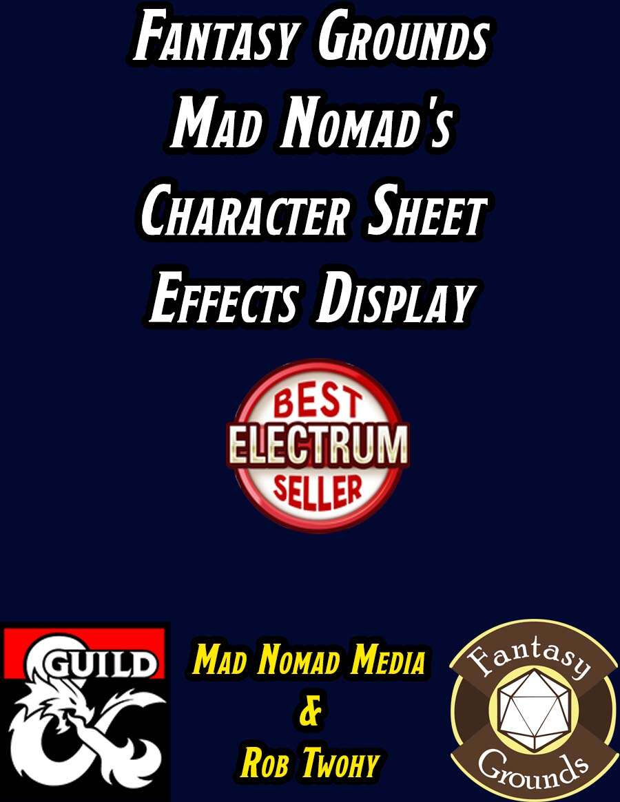 Fantasy Grounds Mad Nomad's Character Sheet Effects Display