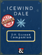 Icewind Dale Dungeon Master Screen Companion