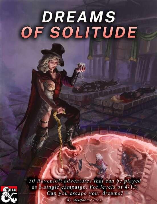 Cover of Dreams of Solitude: Ravenloft Campaign