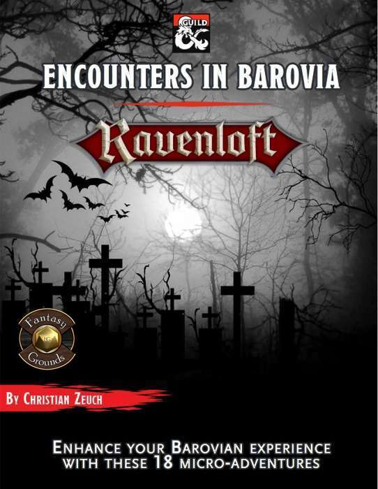 Encounters in Barovia Fantasy Grounds Cover