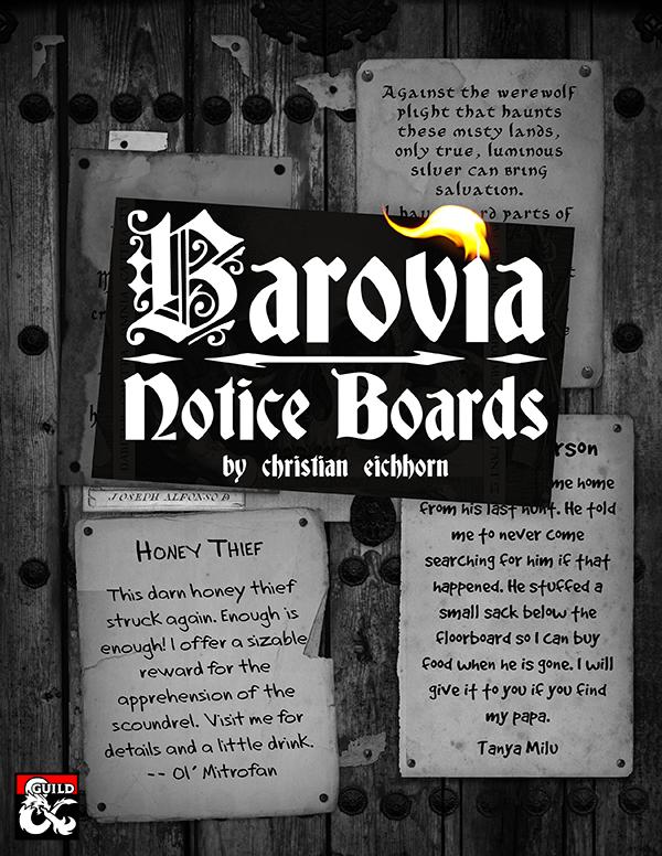 Barovia Notice Boards