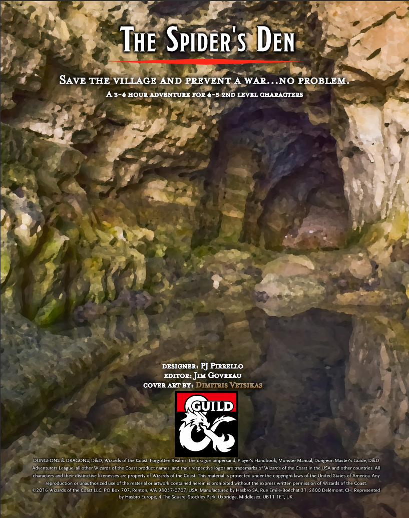 Cover of Into the Underdark - Part 2 The Spider's Den