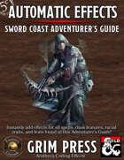 5E Automatic Effects - Sword Coast Adventurer's Guide (Fantasy Grounds)