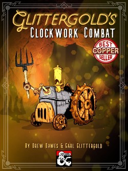 Cover of the original Clockwork Combat. Copper Best Seller badge