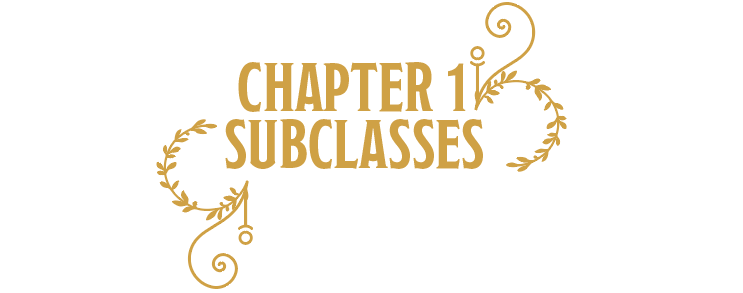 Chapter 1: Subclasses