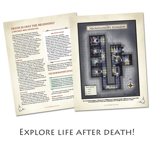 Pages from Death is Only the Beginning adventure