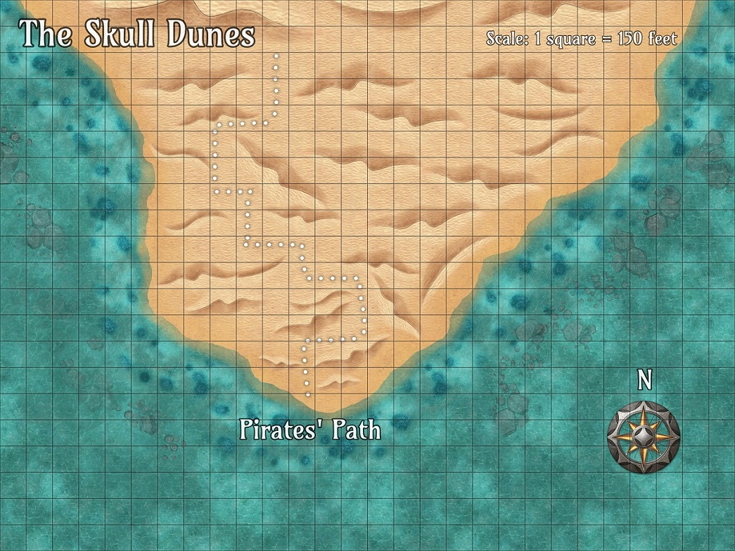 The Skull Dunes CZFRPG Map Preview