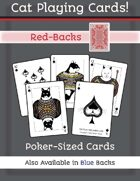 Cat Poker Cards (Red Back)