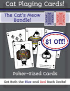 Cat Cards - Blue and Red Backs [BUNDLE]