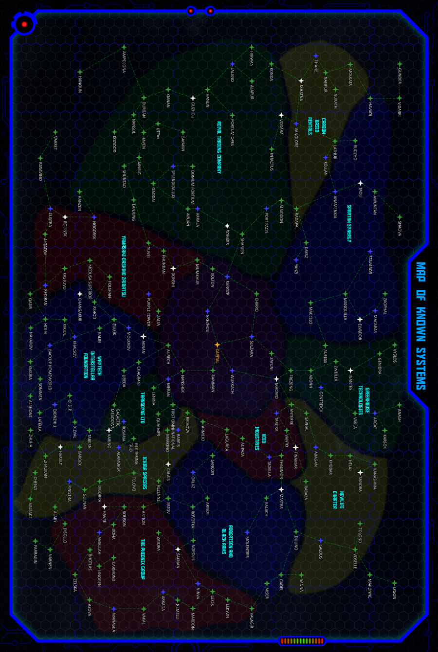 Galaxy Incorporated RPG Galaxy Map - Full Color - Drunken ... on