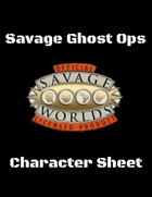 Savage Ghost Ops - Character Sheet