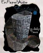 """Tira-dados Cascada circular """"TIERRA"""" (carta) Dice roller Circular cascade """"Earth"""""""