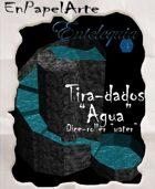 """Tira-dados Cascada circular """"Agua""""(carta) Dice roller Circular cascade """"Water"""""""