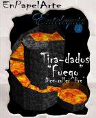 """Tira-dados Cascada circular """"Fuego""""(carta) Dice roller Circular cascade """"Fire"""""""