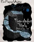 """Tira-dados Cascada circular """"Hielo""""(carta) Dice roller Circular cascade """"Ice"""""""