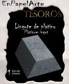 Lingote de platino / Platinum ingot (tabloide)
