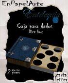Caja de dados Libro azul / Book Dice box blue